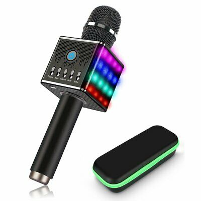 Wireless Karaoke Microphone H8; Handheld, Portable, Disco LED Lights