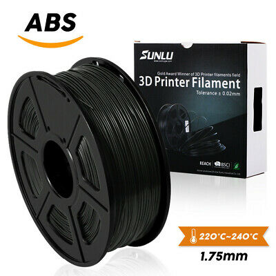 SUNLU ABS Filament For 3D Printer 1.75mm 1KG/2.2LB Spool Black No Bubbles