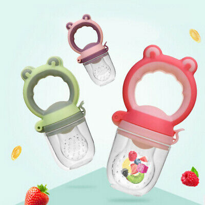 Baby Teether Silicone Pacifier Fresh Fruit Food Feeder Nibbler Soother Nipple