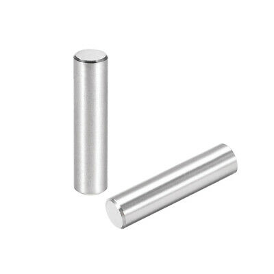 25Pcs 6mm X 25mm Dowel Pin 304 Stainless Steel Cylindrical Shelf Support Pin