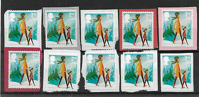 10 GB Unfranked 2nd class security Christmas stamps on paper. Special price.
