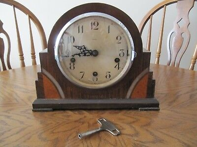 Enfield Mantle Clock with key - Fully working - circa. 1920/1930s