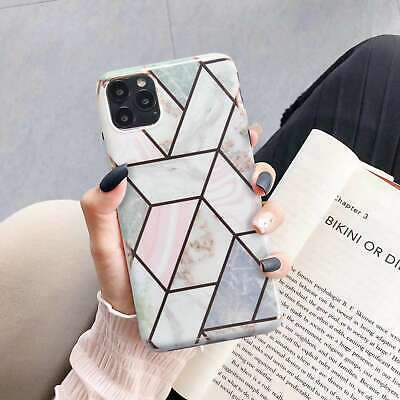Marble Case Cover For iPhone 11 Pro Max XS X XR 8 7 6 6S Plus + Screen Protector