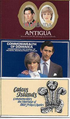 10 Booklets of Stamps from Commonwealth Countries. Charles & Diana Wedding 1981
