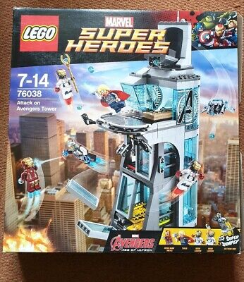 Lego marvel superheroes attack on avengers tower 76038