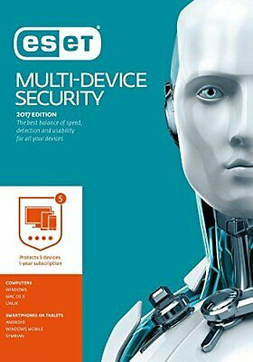Eset 2017 Multi Device Internet Security 1 Year 5 Device Retail - Game  54LN The