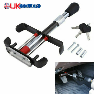 Car Van Brake Clutch Foot Pedal Security Anti Theft Adjustable Clamp Lock fC