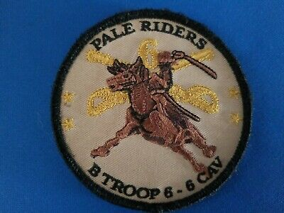 """B Troop 6-6 Cavalry Army Military Patch """"Pale Riders"""""""