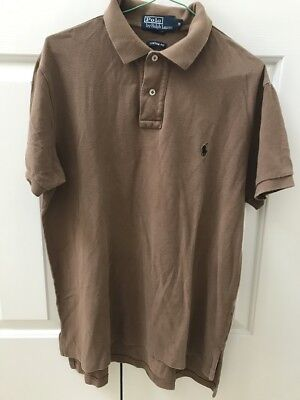 Ralph Lauren - Men's Polo Shirt - Brown - Size M