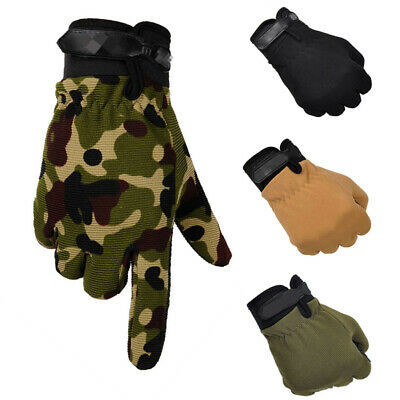 Tactical Military Camo Gloves Anti-Slip Outdoor Sports Fishing Hunting Shooting