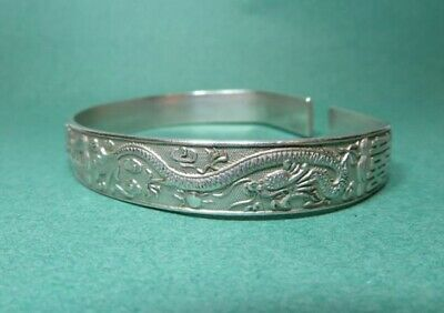 Antique Chinese Silver Bangle Silver Bracelet 39.3g