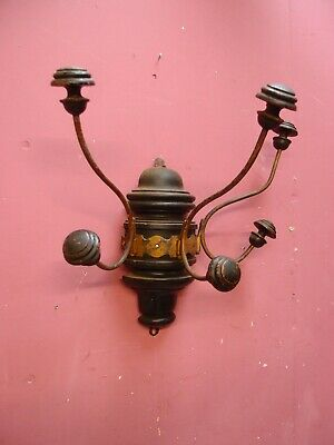Antique French Wood & Metal Hanging Hat & Coat Hooks