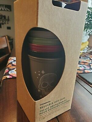 NEW In Hand Starbucks Halloween 2019 Reusable Hot Cup Set Of 6- Fall Edition