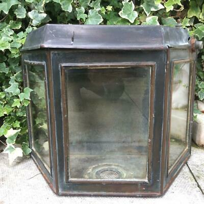 Antique Copper Glass Toilet Cistern Tryptic Glass Water Closet Tank Copper Circa