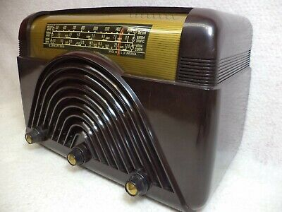 Vintage Crosley Bakelite AM/SW/LW Tube Radio Model 58XA-RESTORED