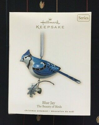 2007 Blue Jay Beauty of Birds Hallmark Series Ornament BRAND NEW MIB