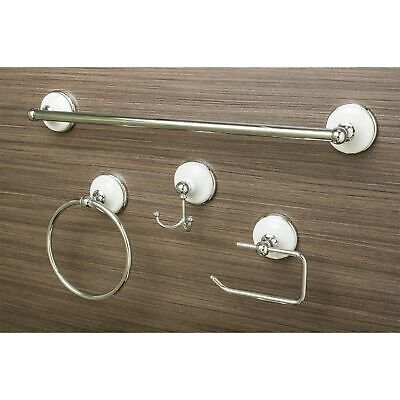 Sure-Loc Vintage Chrome Porcelain 4-piece Bathroom Accessory White Country