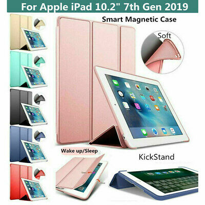 For iPad 10.2 2019 7th Gen Smart Magnetic Leather Stand TPU Folio Case Cover UK