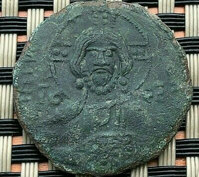 BASIL II and CONSTANTINE VIII 976-1028 AD CLASS 2 ANONYMOUS FOLLIS VERY RARE