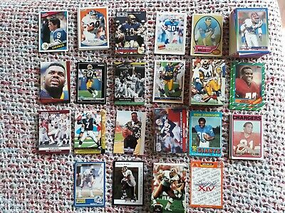 302 American Football Cards - Various Years - Various Manufacturers