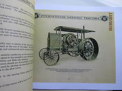 IHC Gasoline  Tractor  Catalog 12hp, 15hp, 20hp models  International Harvester