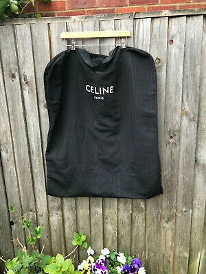 Celine black long dress cover garment bag travel bag