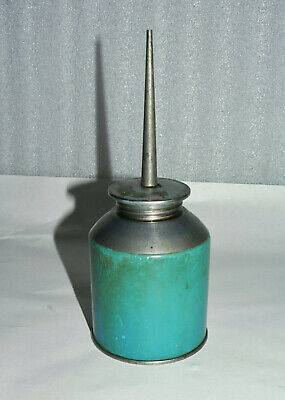 """Vintage Small Thumb Pump Oil Can Machine Oiler 7"""" Tall"""
