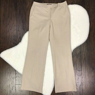 White House Black Market Size 8 Dress Pants Modern Boot Cut Cream Beige