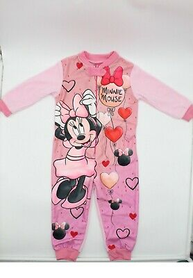 New Girls Disney Minnie Mouse All In One Nightwear Size, 3-8 Years