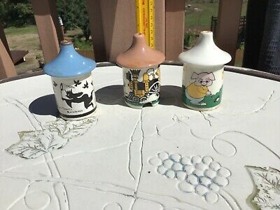 Antique pie vent, funnel, bird, LOT RARE, 3 Little pigs, blackbird train novelty