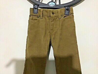 BABY GAP smart corduroy straight leg trousers 3 years exc condition camel unisex