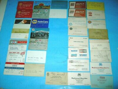 16 Old Expired Gasoline Company Credit Cards