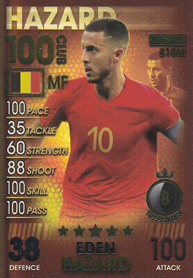 TOPPS MATCH ATTAX 101 - 2019 - Eden Hazard - Belgium - # 185 - 100 CLUB
