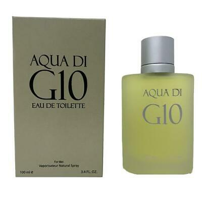 Aqua di G10 Men's Perfume Cologne EDT 3.4 fl.oz.