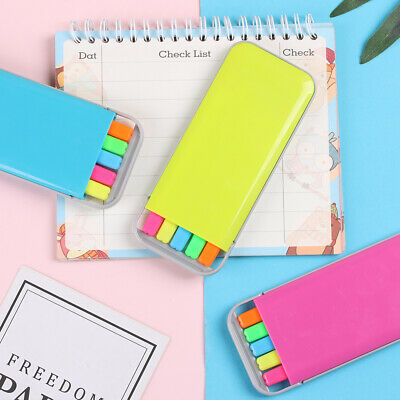 Set Pastel Candy Color Stationery Watercolor Pen Marker Tool Highlighter Pen