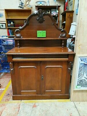 Antique Cedar Sideboard (Armorial Backed Chiffonier) 107 x 160 cm