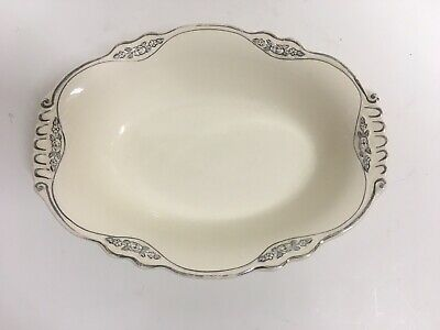 Homer Laughlin Virginia Rose Oval Serving Dish Bowl Made In Usa L41N8 VR124