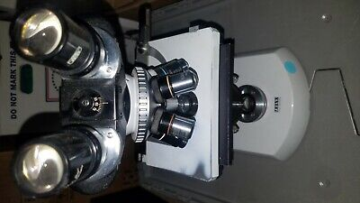 Carl Zeiss Standard 17 Microscope with 5 ojectives & lenses