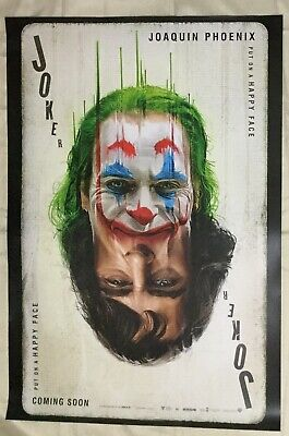 Rare JOKER DS Movie Poster Double Sided 27x40  Intl version Joaquin Phoenix