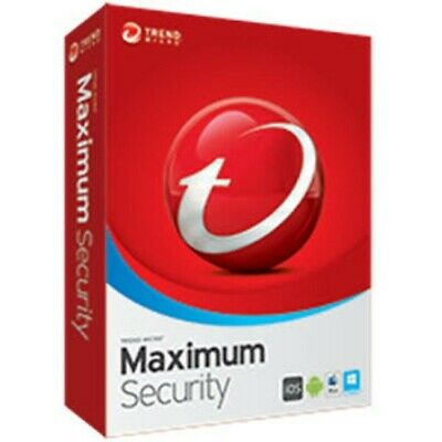 Trend micro maximum security 2019 2020 Latest 1 Years 2 Device