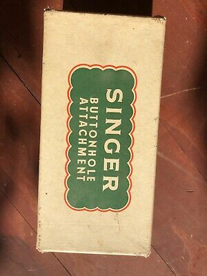 Singer Buttonhole Attachment (86662) Boxed Vintage Attachment- Singer Lockstitch