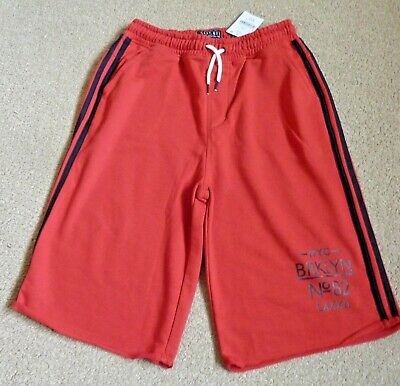NEW Next Boy's Cotton Jersey Shorts Age 14 Years Red