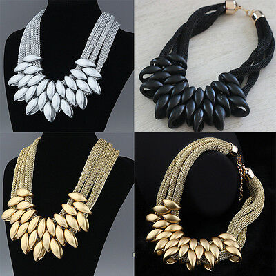 Exaggerated  Chunky Chain Pendant Necklace Bib Choker Nice Jewelry Delicate ^ T