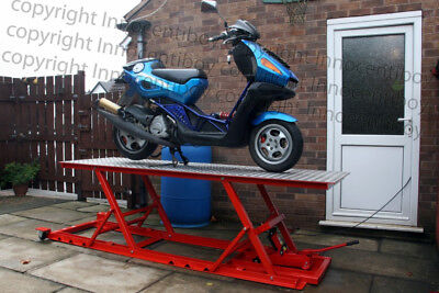Motorcycle Scooter Motorbike Lift Building Guide Plans