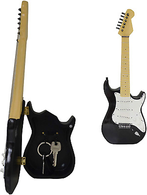 Maison Des Cadeaux New Vintage Black and White Stratocaster Gloss Guitar Key Box