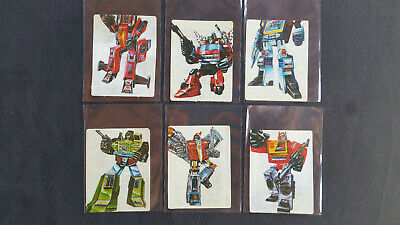 RARE Vintage 80s Transformers Prima Juice Stickers lot of 6
