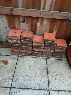 "60 Reclaimed Terracotta Quarry Floor Tiles 6"" x 6"" - Batch of 60"