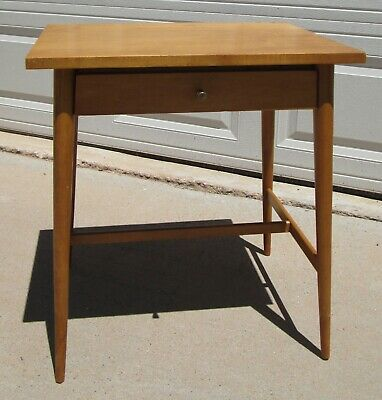 Paul McCobb Planner Group Maple Night Stand Side Table Brass Pull Winchendon