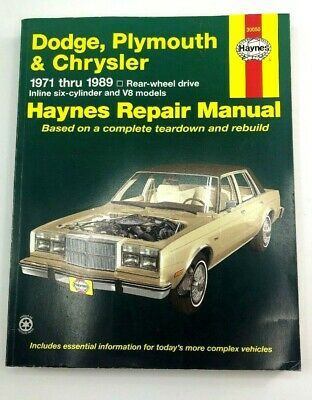 Repair Manual-Base Haynes 30050