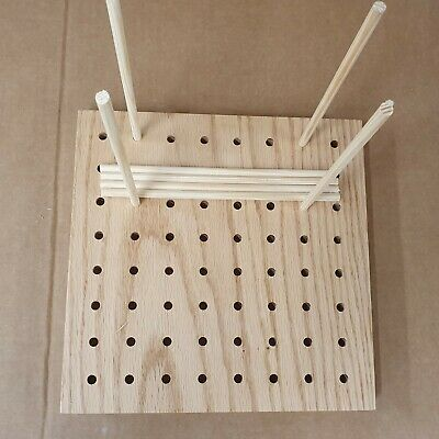 Crochet blocking board 9 inch squareMade from solid oak